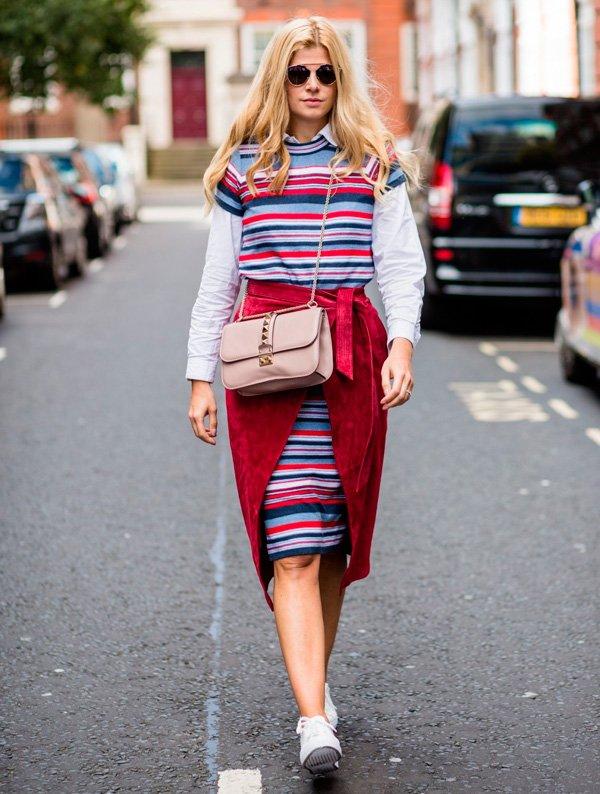 vestido com saia no mesmo look: copie já