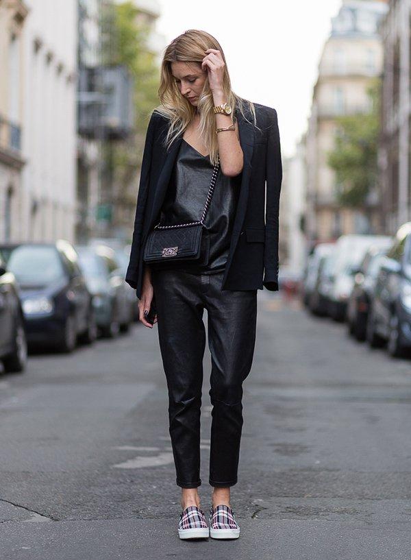 All Black com terno