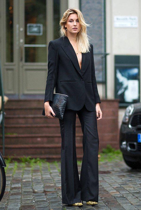All black com blazer e pantalona