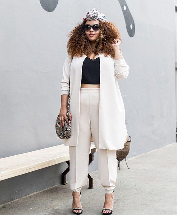 calça branca para gordinhas