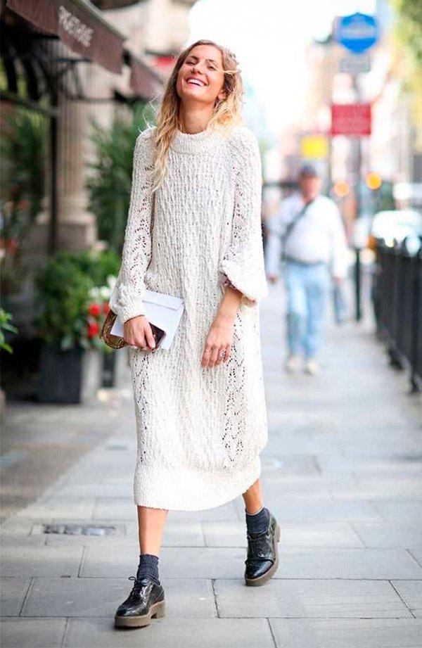 maxi sweater off white