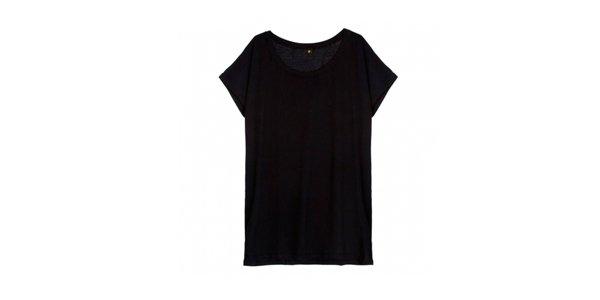 T-shirt oversized preta