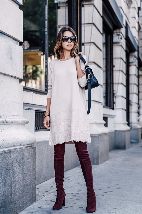 Duo We Love Comprimento Midi Over The Knee Boots Steal