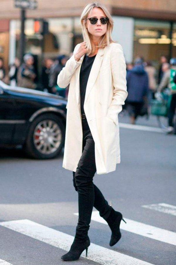 look preto calça branca