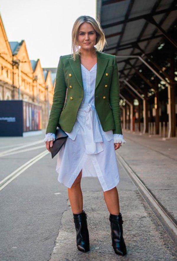 look casaco militar