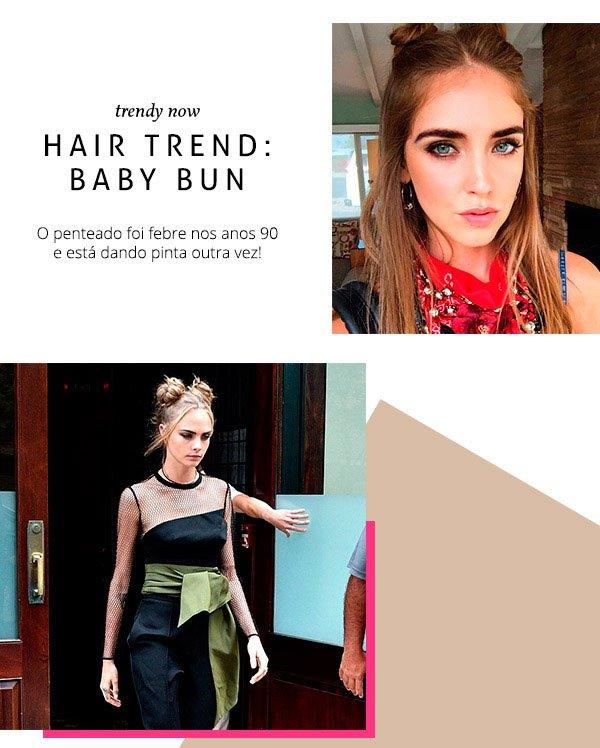 baby bun é tendência nos cabelos das famosas