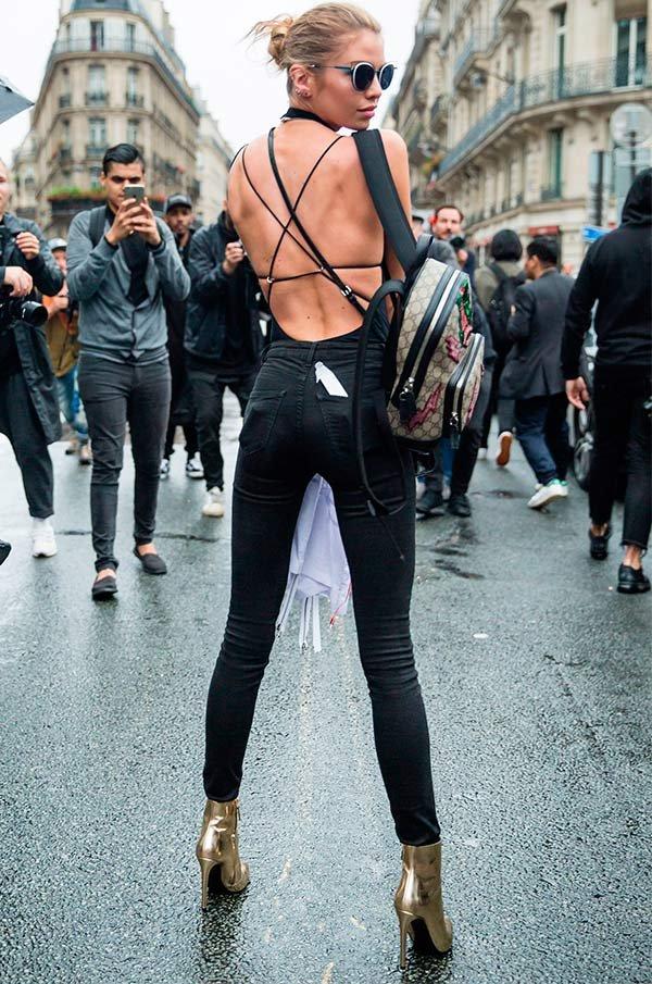 stella maxwell usa bodysuit com costas livre
