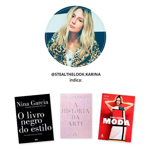 karina facci indica livros de moda