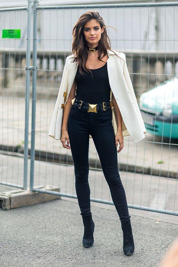 calça preta cintura alta