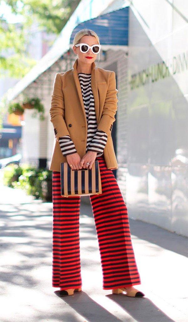 Street style look com listras.