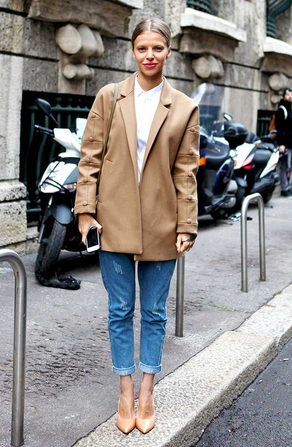 scarpin nude ecalça jeans