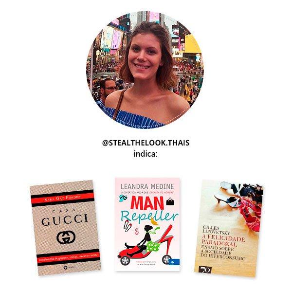 thais cézare indica livros de moda