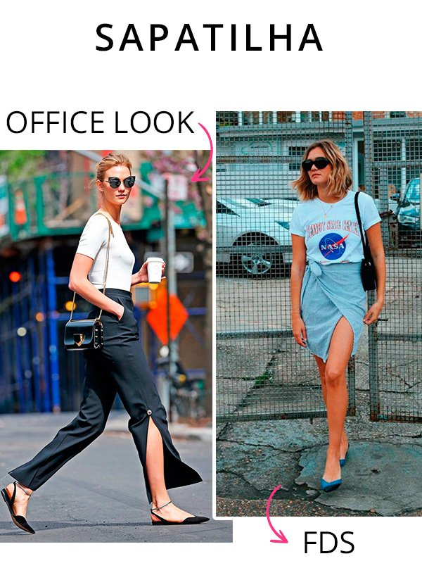 sapatilha office look - fds