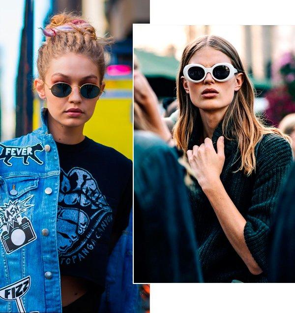 Street style look óculos de sol.