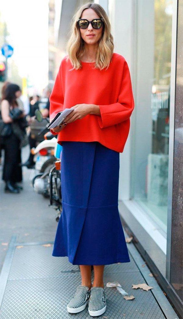 Street style look com slip on.