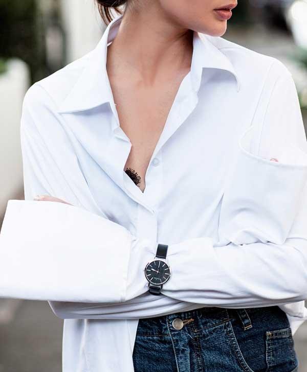 camisa e relógio