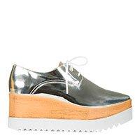 Sapato oxford flatform prata Taquilla