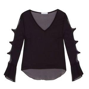 blusa recortes
