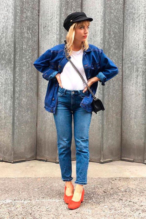 camiseta jeans on jeans