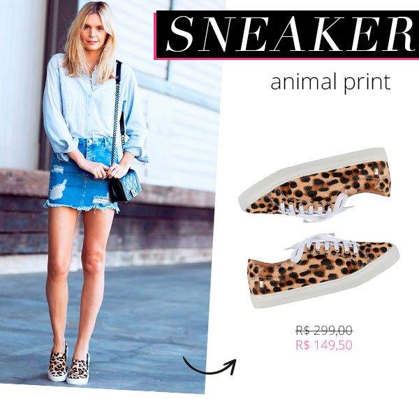sneaker animal print loucos e santos