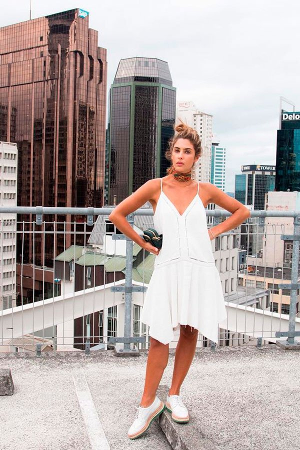 vestido branco oxford