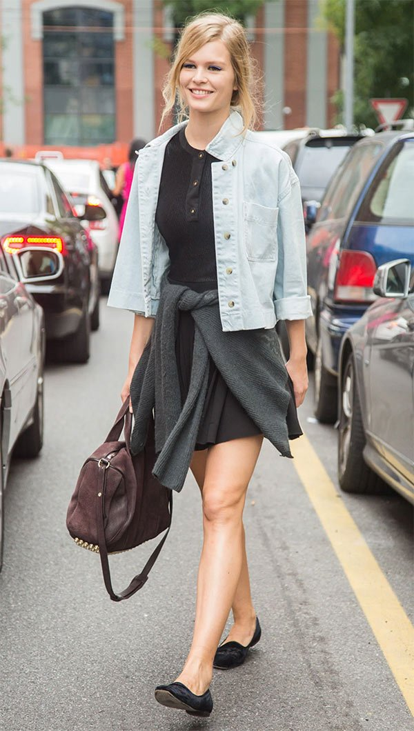 Street style look Anna Ewers