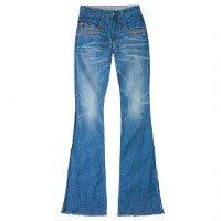 Calça Jeans Feminina Special Denim Hering Na Modelagem Flare