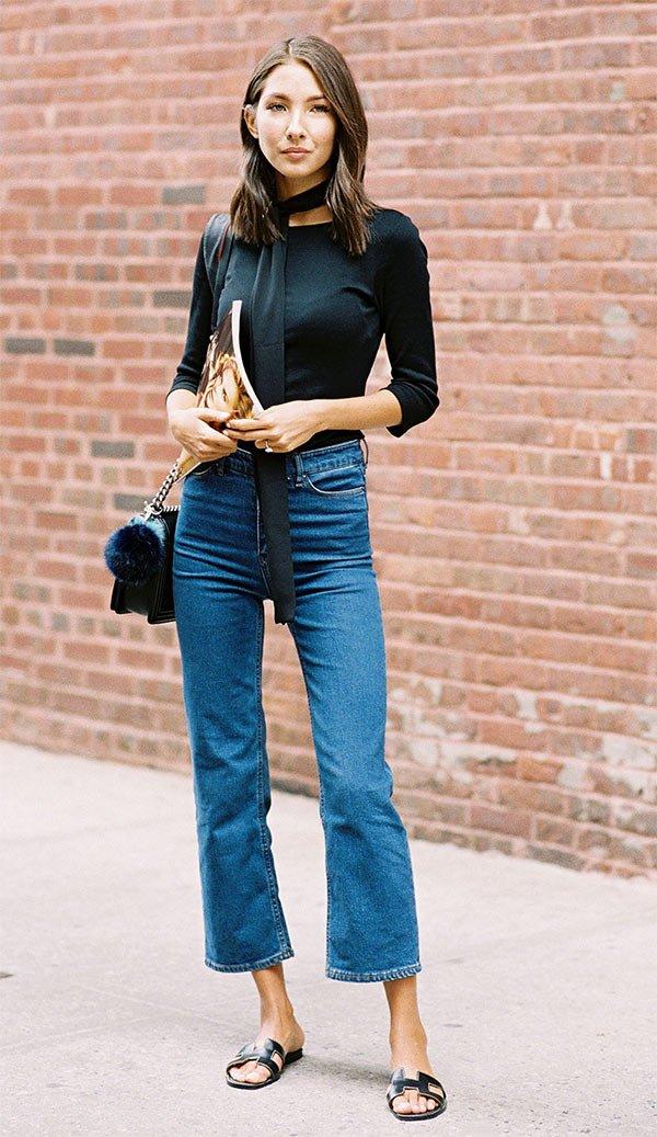 Street style look com flat.