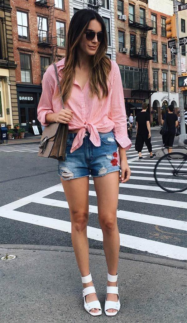 blusa jeans e short al3b31b7 - alcaldiadeapopa.com