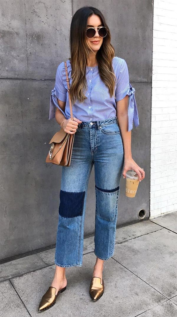 Street style look com patches.