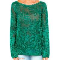 blusa estampada verde