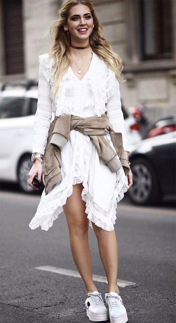 Street style look Chiara Ferragni