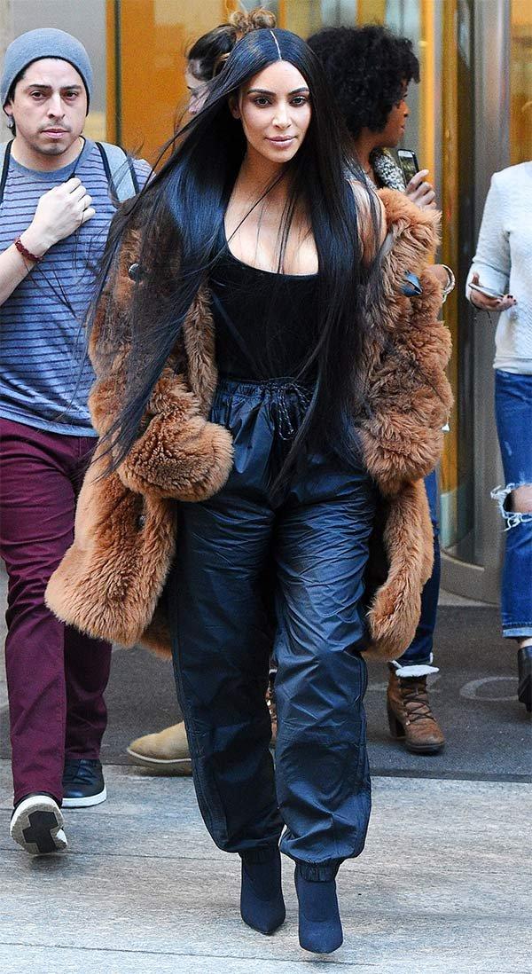 Street style look Kim Kardashian