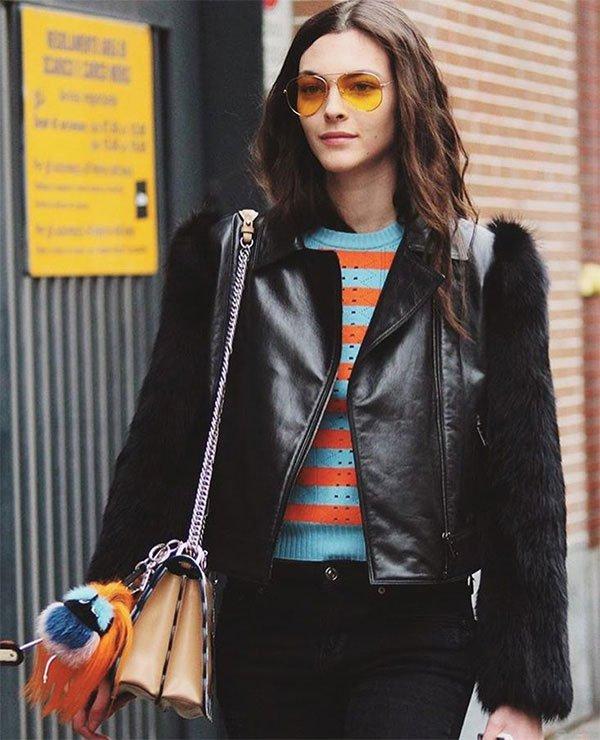 Street style look Vittoria Ceretti