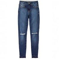 Calça Jeans Com Rasgos E Lavação Escura Na Base Berlin Dzarm