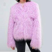 casaco fur lilás