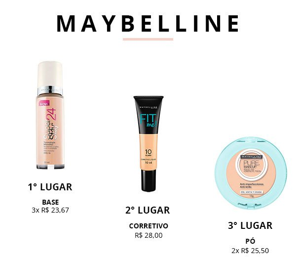 maybelline top 3