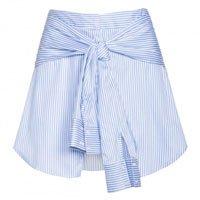 Shorts Listrado Algodão