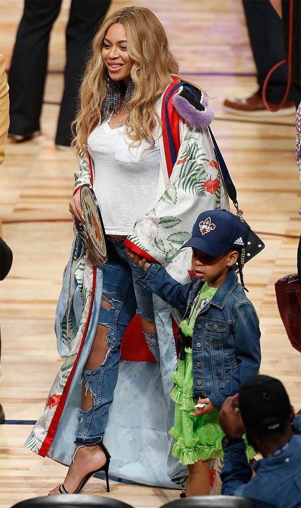 Street style look Beyoncé.