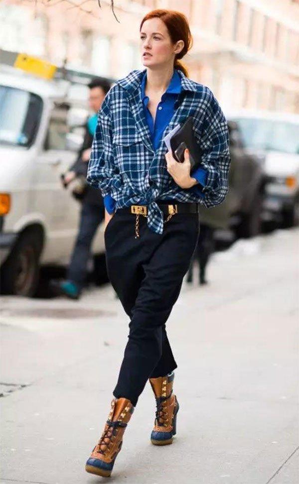 Street style look com camisa xafrez.