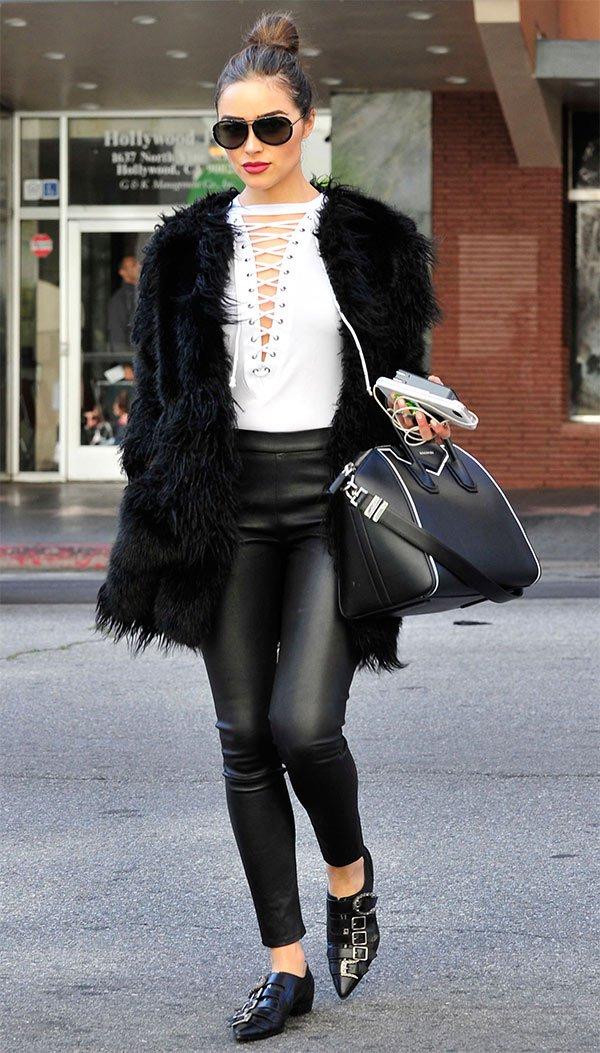 Street style look Olivia Culpo