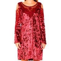 vestido vermelho veludo renda