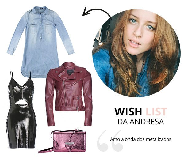 WIsh List de Maio andressa almeida