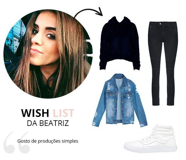 WIsh List de Maio beatriz costa