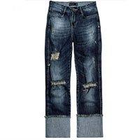 Calça Jeans Dzarm Com Barra Dobrada