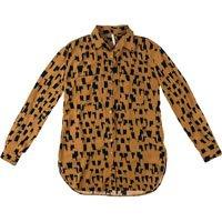 Camisa Mullet Animal Print Em Tecido De Viscose Dzarm