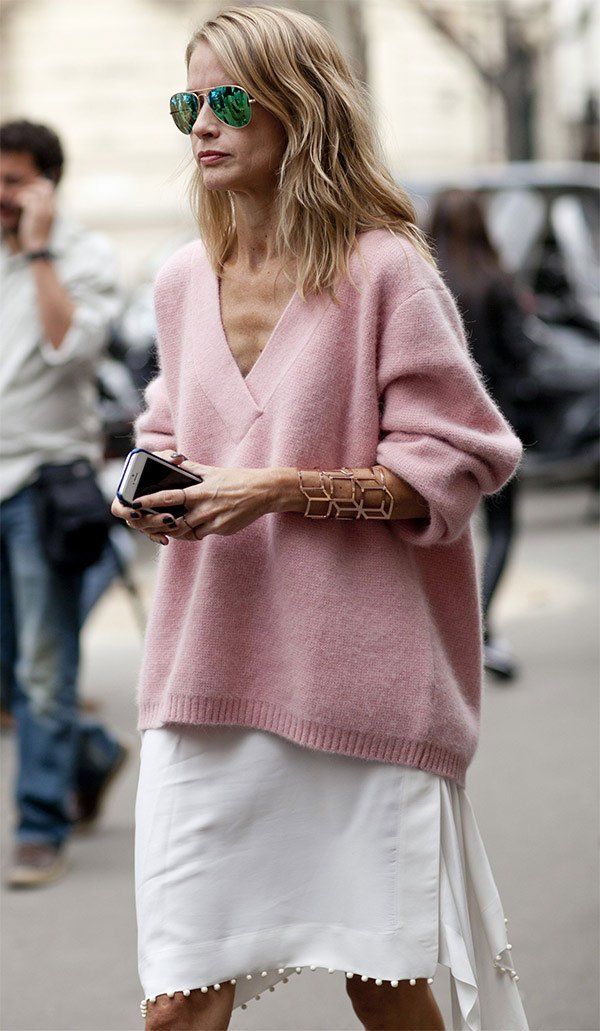 Street style look com bracelete.