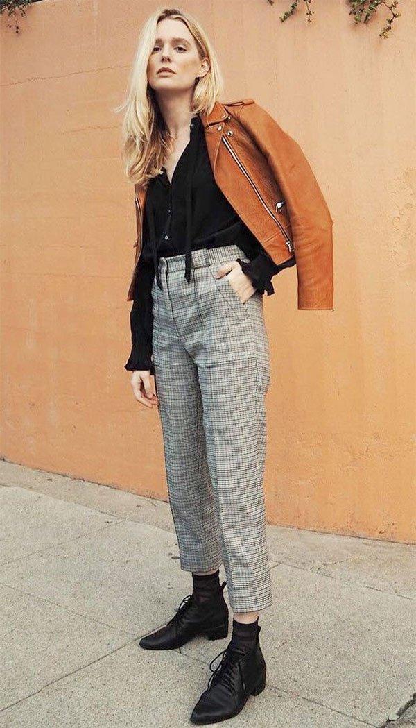 Street style com calça social.