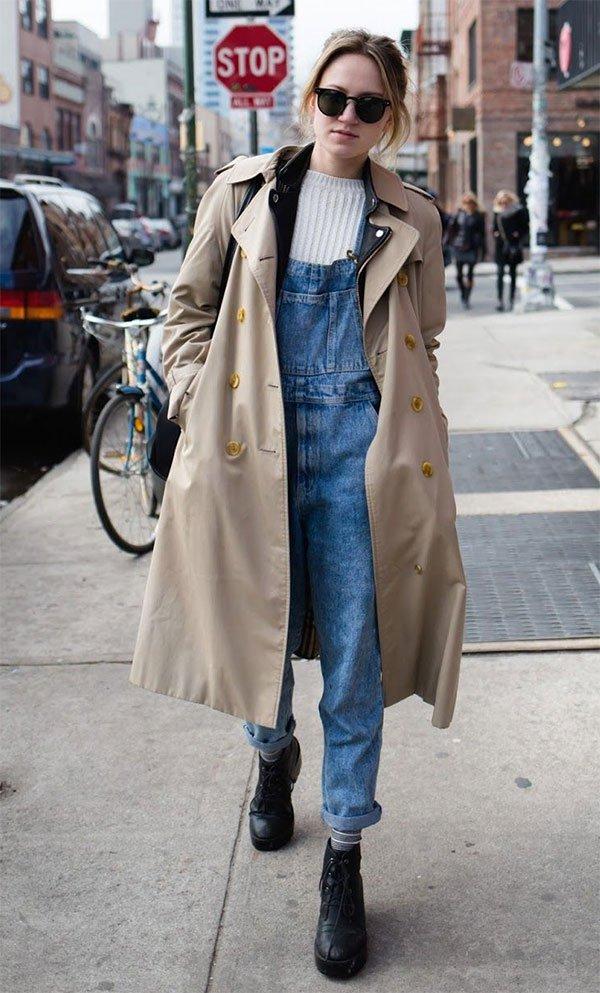 f6bdac339 11 provas que o macacão jeans ainda é muito cool » STEAL THE LOOK