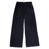 Calça Pantalona Em Tecido De Alfaiataria Creponada